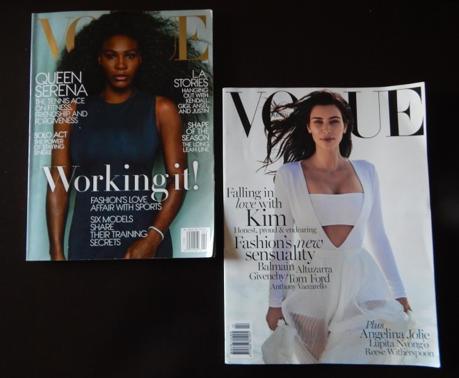 My two favorite picks from Vogue magazine this year featuring Kim Kardashian and Serena Williams.
