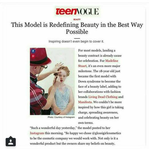 #Repost from Teen Vogue on Madeline Stuarts debut at NYFW